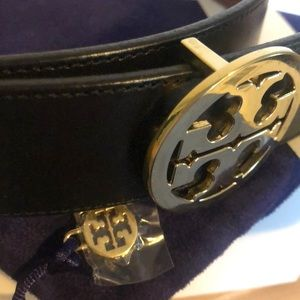 Tory Burch Accessories - Tory Burch Reversible Belt - Blk & Luggage Small